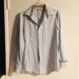 Light blue Burberry button-up shirt